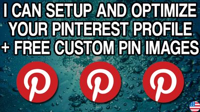 Setup your Pinterest profile + 5 boards + 5 custom pin images