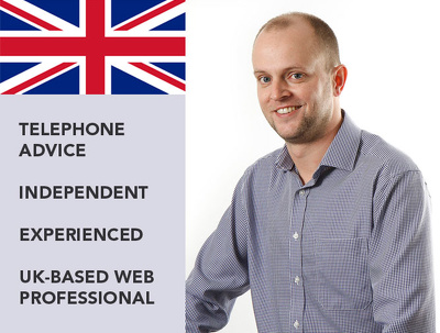 Be your web consultant for 1 hour - UK Telephone Advice