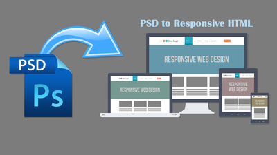 Convert PSD into a fully responsive HTML5, CSS3, Bootstrap page
