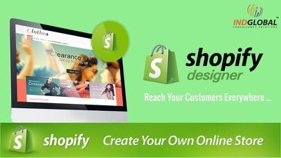 Develop full SHOPIFY website