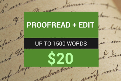 Get a Professional Writer to Proofread and Edit Your Work