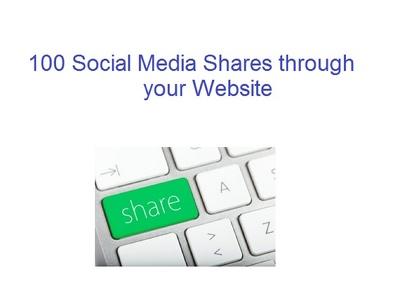 100 Social Media Shares through your Website
