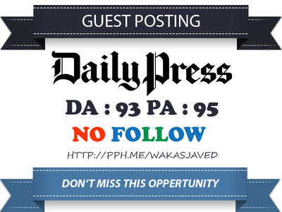 Publish Guest post on Dailypress  -  Dailypress.com DA 93