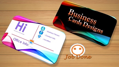 Design professional business cards for your company