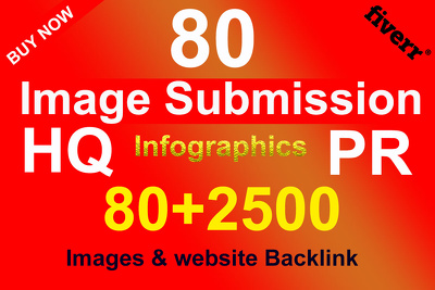 80 image submission for high Backlink Seo or Article Submission