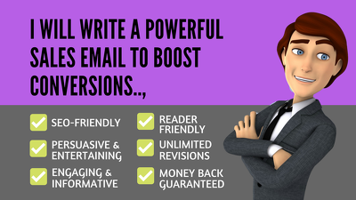 Write A Powerful 300 Words Sales Email To Boost Conversions