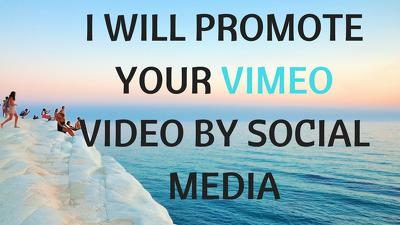 Promote your vimeo video using social media
