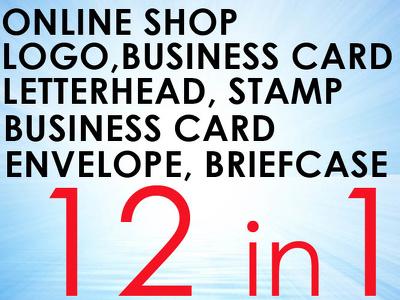 Online Shop+Branding Package (Brand ID,Logo)+4 extras+12 in 1