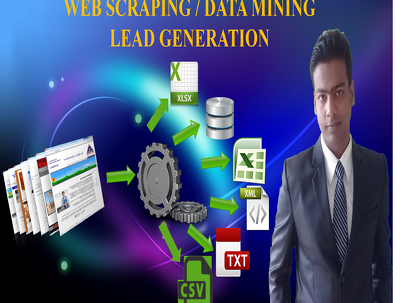 Do web Scraping 500 Data Scraping and Data Mining by Programming