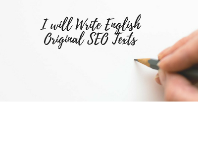Write Unique English SEO Blogs, Texts, Or Articles (500 words)