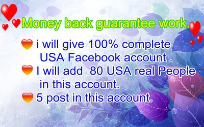 Sell 50 USA Facebook account for you