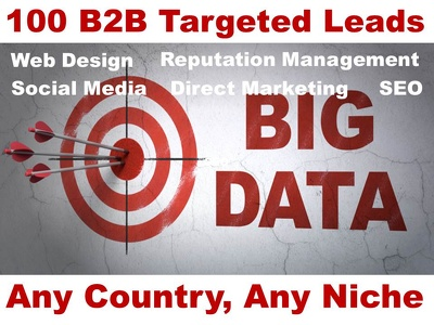 100 Leads B2B Targeted Fresh UK USA CANADA Direct Marketing
