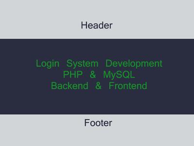 Develop Login and Registration System