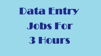 Do all types of data entry jobs for 3 hours