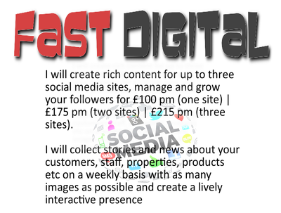 Create rich, lively content pm for you on 1 Social Media site