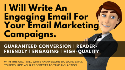 I Will Write 5 Powerful Sales Email series