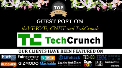 Guest post on theVERGE, CNET and TechCrunch - HQ Tech Sites