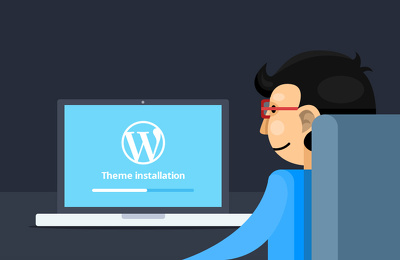 Install your WordPress theme on your domain.