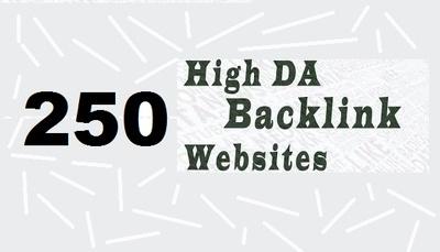 Do 250 high DA contextual backlinks
