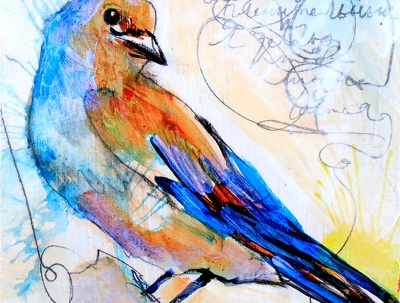 I can make beautiful mini bird paintings for your holiday gifts!