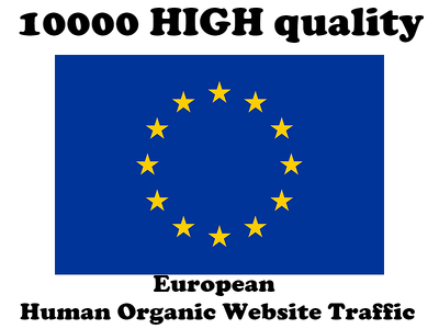 10000 HIGH quality European Human Organic Website Traffic