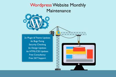 provide Monthly Wordpress Website Maintenance & Support