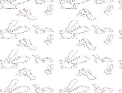 Make a seamless black and white vector pattern