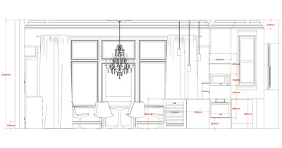 Create 2D interior walls elevation drawings DWG or PDF