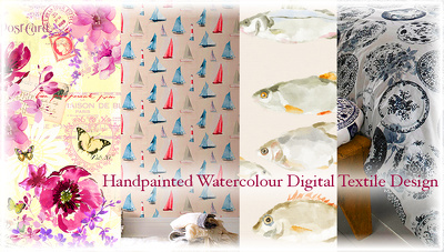 Design a seamless watercolour textile print/pattern