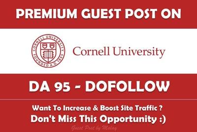 Guest post on Cornell University. Cornell.edu - DA 95