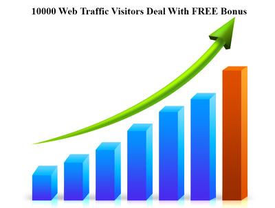 10000 Web Traffic Visitors Deal With FREE Bonus