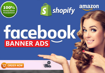 Design Facebook Ads, Web Banners, Google Ads, Covers,Shopify