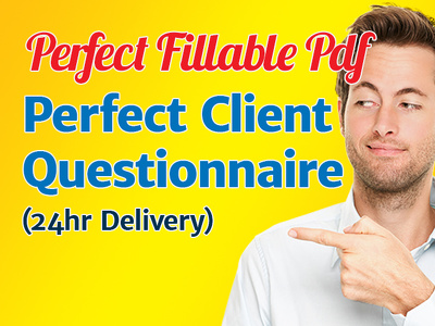 Send you my Perfect Client Fillable PDF Form 24hr