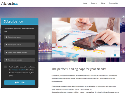 Create a stunning landing page for your business