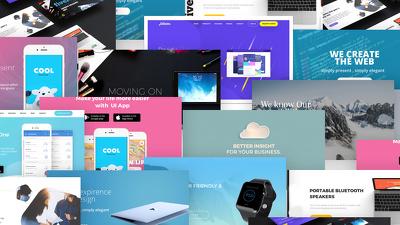 Design Creative Web Banner's, Header's, and social media ads