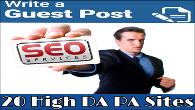 Provide You Monster Guest Post Package, Guest Post On 20 High Au