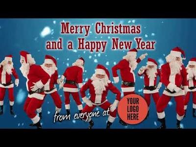 Make a Dancing Santa Christmas  Video Greeting Message
