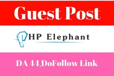 Write a guest post for you at PHPelephant.com, DA 44, Do follow