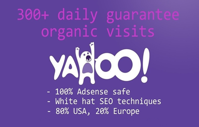 Drive Daily 300 High Quality Yahoo Organic Traffic For 30 Days