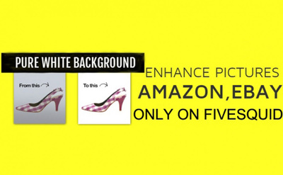 Enhance pictures for Amazon Ebay within 6 hour