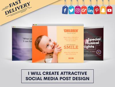 Create 50 Attractive Social Media Posts Design