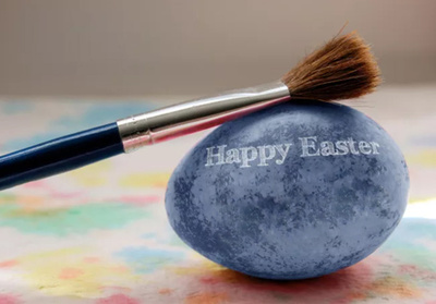 Add your Logo Or Message On A Painted Easter Egg