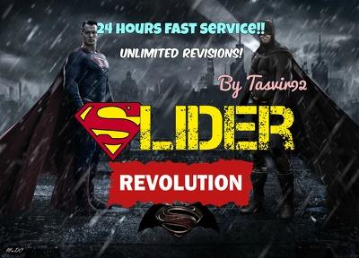 Design a superb Slider Revolution slider for your website