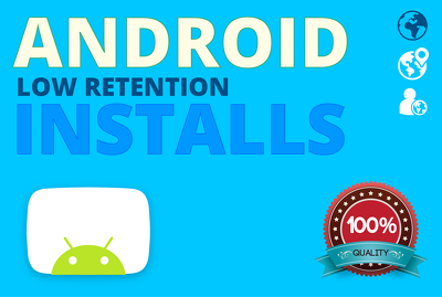 Add 100 app installs for your Free Google Play Android App
