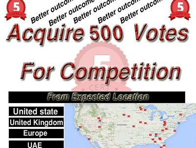Get 500 votes for Virtually consisted Voting competition