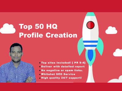 Create 50 High PR Social Media Profile Creation Service