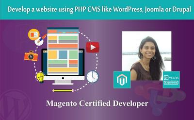 Develop a website using PHP CMS like WordPress, Joomla or Drupal
