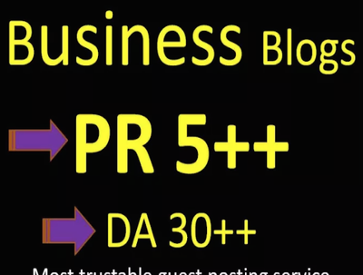 Do A Guest Post In A PR 5 Business Blog
