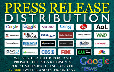 Distribute your press release to USA News Sites and Google News