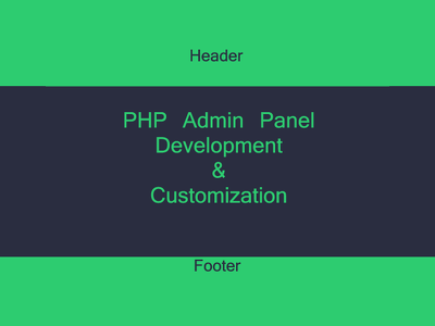 Develop Web admin panel